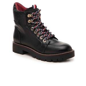 Tommy Hilfiger Leda Combat Boots- W7